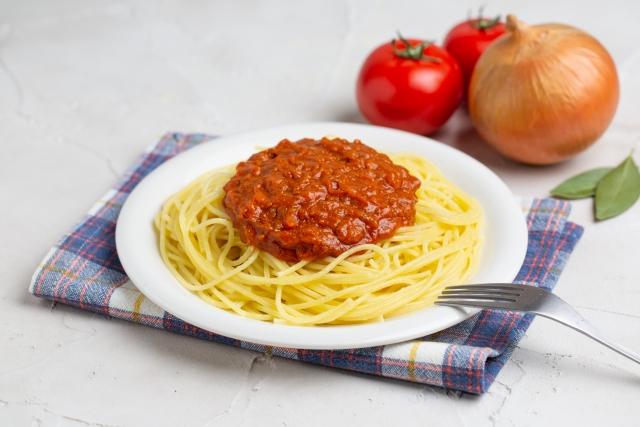みんな大好きミートソーススパゲッティ