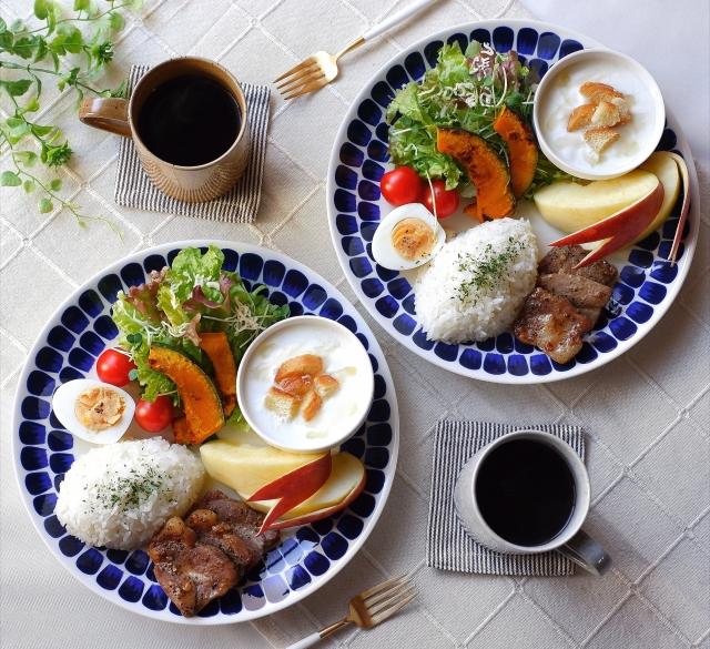 イメージ画像です。こんなに豪華な朝ご飯ではありません。